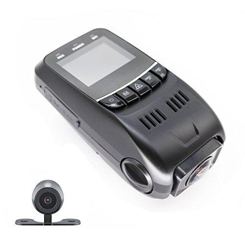 i-Tentek B40D Dual-Kamera Kondensator Version Stealth Dash Cam 170°Weitwinkelobjektiv 6G - Hitzebeständig HD 1080P Auto DVR mit G-Sensor WDR Nachtsicht Bewegungserkennung