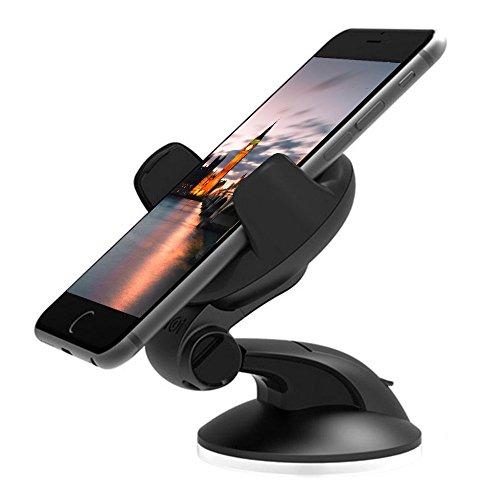 thanly supporto universale da auto per supporto regolabile cruscotto parabrezza Telefono Supporto Supporto per iPhone SE 66S Plus 5S 5C 5, Samsung S7S6S5Note 2345HTC LG