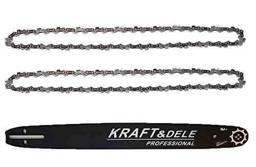 Schwert + 2 Stück Sägekette für Kettensäge Husqvarna 3/8 1,5mm 45cm 346xp Kettensäge