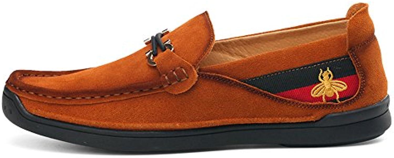Zapatos de Ante de los Hombres de los Guisantes Mocasines Casuales del pie