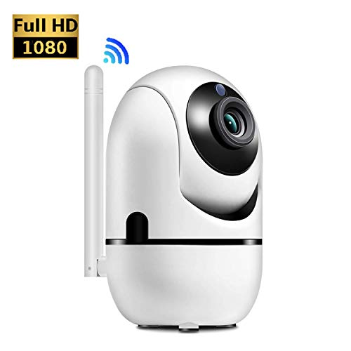 WiFi IP Kamera, HALUM 1080P Home Security Überwachung Indoor Wireless Kamera mit HD-Nachtsicht/Zwei-Wege-Audio/Bewegungserkennung Pan/Tilt-Kamera für Baby/Elder/Pet Monitor (Audio Mit Home-security-kameras)