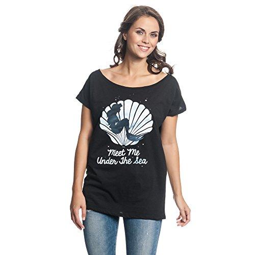 Arielle die Meerjungfrau Meet Me Under The Sea Girl-Shirt Schwarz XL