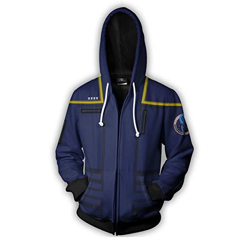 enpullover Sweatshirt 3D Gedruckt Jacke Erwachsene Kostüm Mantel Top Kleidung für Frühling Herbst ()