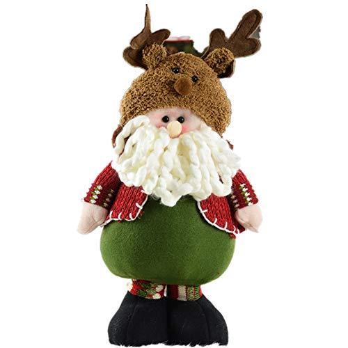 MokaHW Natale Babbo Natale/Pupazzo di Neve Bambole Ornamenti Figurine di Natale Decorazioni per Alberi di Natale Regalo di Natale per Bambini Natal Ornament Babbo Natale