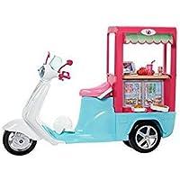 Barbie Restaurante sobre ruedas, moto de muñeca (Mattel FHR08)