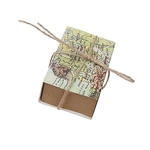 Suxian aprox. 50pcs creativo papel Kraft Mapa del mundo cajones Wedding Favors Candy cajas de regalo