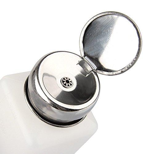 Beauty7 Flacon Pompe Distributeur Bouteille 200 ml Liquide pour Dissolvant Faux Ongle UV Gel Vernis a Ongles
