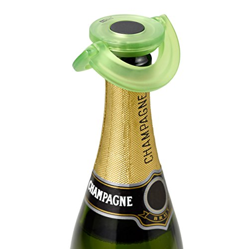 Ad Hoc FV34–Stöpsel für Sekt oder Champagner Geschmack Silikon Grün Ø 8,2cm