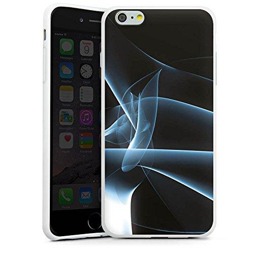 Apple iPhone X Silikon Hülle Case Schutzhülle Rauch Nebel Muster Silikon Case weiß