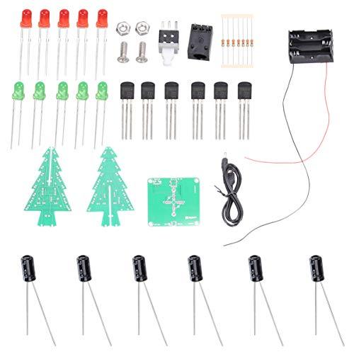 OSALADI 1 satz led weihnachtsbaum kit elektronische teile flash schaltung kit 3d weihnachtsbaum kit für elektronische praxis diy ohne batterien