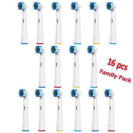 SOFTMATE Testine di Ricambio per Spazzolino Elettrico Compatibile con Oral B, 16 pezzi