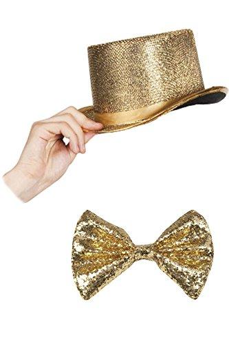 Silvester Outfit Zylinder Set (Gold)