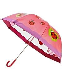 Playshoes Mädchen Regenschirm Glückskäfer