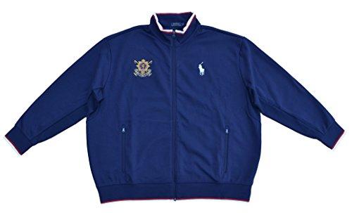 9f1e259e3b28e1 Ralph Lauren Big   Tall Sweatshirt Jacke Track Jacket Dunkelblau French Navy  (5XB)