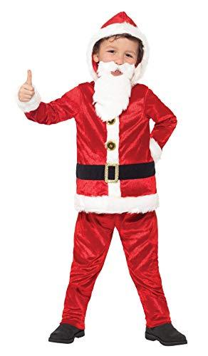 Smiffys 21812T - Kinder Jungen Weihnachtsmann Kostüm, Alter 12 Plus Jahre, One Size, rot/weiß