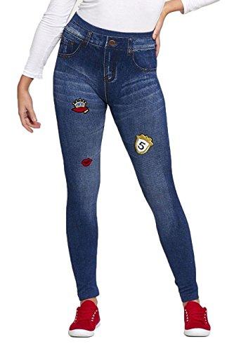 RIDDLEDWITHSTYLE - Pantalon de sport - Uni - Femme noir * Denum Blue