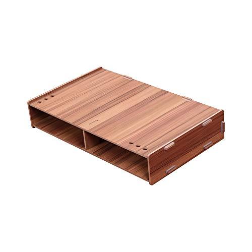 Tianzhiyi Haushaltswaren Speichersteckplätze, Monitorständer Riser mit Schubladen, Holz Desktop, Laptopständer Riser, Computer Schreibtisch Organizer für Heim und Bürozwecke -