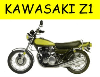 2030 EXTRA LARGE KAWASAKI Z1 CLASSIC MOTO PUBLICIDAD SIGNO DE PARED RETRO METAL ART