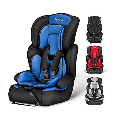 Besrey Kinderautositz Kindersitz 9-36kg Auto Kindersitz für Kinder 9 Monaten - 12 Jahre, Autositz Gruppe 1/2/3, ECE R44/04.