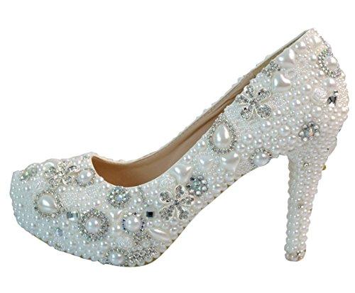 TDA , Semelle compensée femme 9cm Heel White