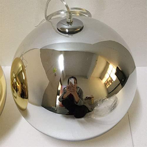 CRESDAR&L Spiegelkugel Pendelleuchten Glas Pendelleuchten Restaurant Dekor Beleuchtung Lampen D20 / 25 / 30CM Chrome 31-40W D25cm (Bier Gläser Bulk)