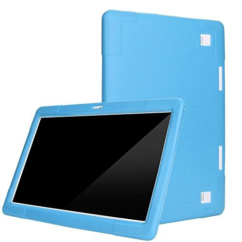 "Fcostume - Funda Universal de Silicona para Tablet Android de 10,1"", Azul Claro"