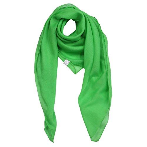Freak Scene Pañuelo de algodón ° hierba-verde ° Pañuelo cuadrado para el cuello
