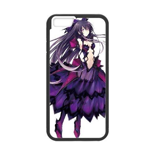 Date A Live Yatogami Tohka coque iPhone 6 4.7 Inch Housse téléphone Noir de couverture de cas coque EBDXJKNBO13674