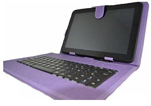 """Funda con teclado para Tablet Bq Edison 3 Quad Core 10.1"""" - Morada (Teclado Negro)"""