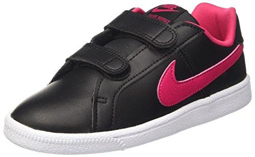Nike Mädchen Court Royale (PSV) Sneaker, Schwarz (Black/Rush Pink-White), 34 EU