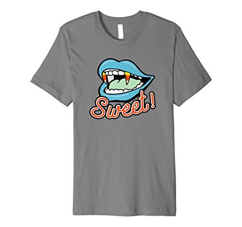 (Sweet Tooth Candy Corn Vampirzähne Halloween Shirt)