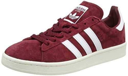 adidas Campus Sneakers Basses Homme, Rouge (Collegiate Burgundy/Footwear Chalk White), 43 1/3 EU