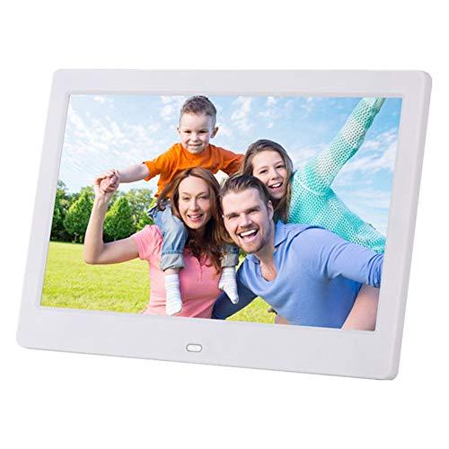 MrRong Digitaler Fotorahmen 10-Zoll-Breitbild-HD führte elektronisches Album-LCD-Digital-Fotorahmen an der Wand befestigte Werbemaschine-Geschäftsgeschenke,White
