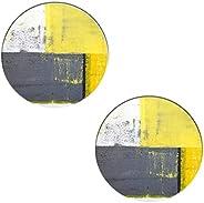 ديكور رمادي وأصفر ، الشارع الحديثة روك مجردة الوقايات نمط الوقايات - مجموعة قواعد أكواب دائرية ماصة للمشروبات