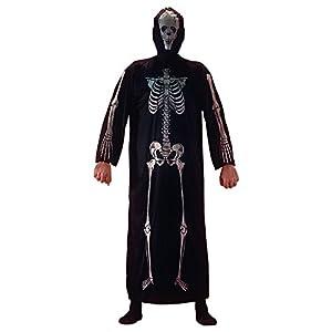 Carnival Toys 03605 - esqueleto con capucha, tamaño M/L