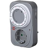 Brennenstuhl Countdown Timer MC 120, mechanische Timer-Steckdose (Tages-Zeitschaltuhr, mit Countdown Funktion und Kindersicherung) Farbe: grau