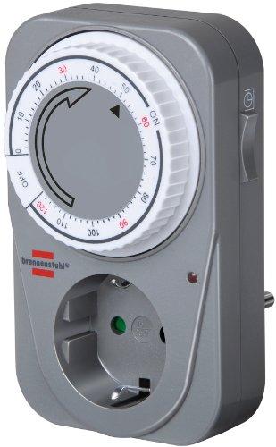 brennenstuhl-1506590-temporizador-mecanico-cuenta-atras-mc-120-gris