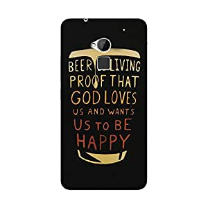 Abhivyakti Food&booze Beer Is Living Hard Back Case Cover For HTC One Max