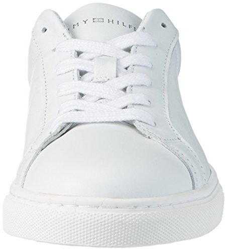 10a1 T1285ina Femme Sneakers Blanc 100 Tommy Bassi Hilfiger bianco qF5ExTwa7