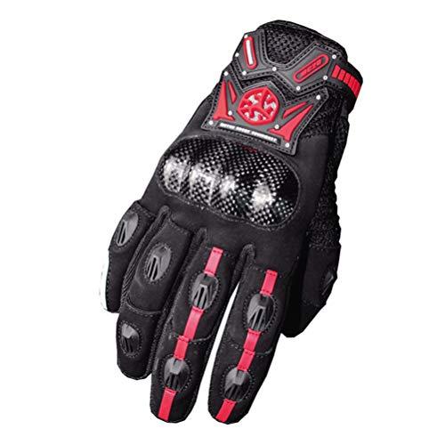 Guanti Moto da Ciclismo Completi, Unisex Adulto in Fibra di Carbonio Quattro Stagioni Motocross Guanti XXL