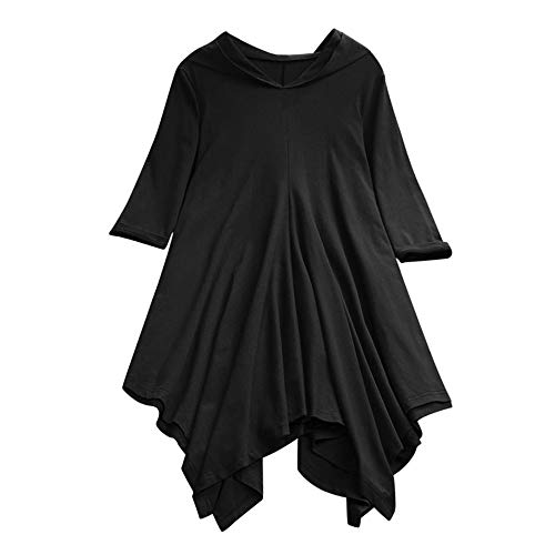 XNBZW Tops Women Jumper Oversized Sleeve Tops Pullover Baggy T-Shirt Sweatshirt Casual Plus Size Loose Cotton Linen Hooded Solid Color Tops Shirt Blouse -