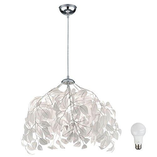 Design Decken Leuchte Pendel Hänge Lampe Blätter Äste im Set inklusive LED Leuchtmittel - Blatt-akzent-lampe