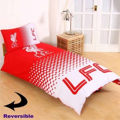 Official Reversible Liverpool FC Single Duvet Cover Set with Pillowcase