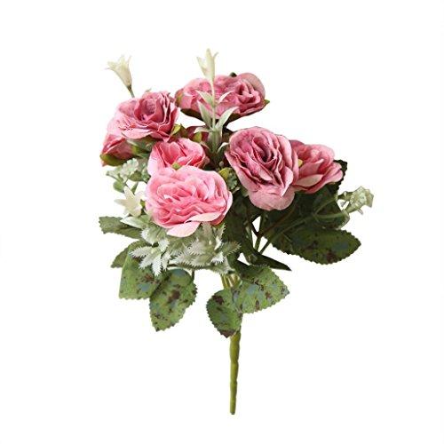 squarex Clearance 8 Köpfe Künstliche Fake Pfingstrose Silk Blume Bridal Hortensie Home Hochzeit Decor