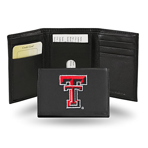 Red Tri-fold Wallet (Sconosciuto NCAA Embroidered Trifold Wallet, Texas Tech Red Raiders)