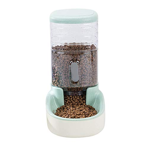 ZYPDCW Hundenapf 3800ml Pet Dog Cat Automatic Water Food Feeder Dispenser for Treat Small Cat Puppy Dog Food Storage Container Pet Product,Green, Food - Pet Storage Metall Food