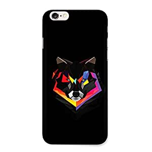 CrazyInk Premium 3D Back Cover for Apple Iphone 6s - Wolf Vector