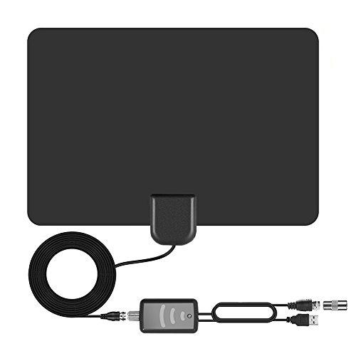 Atsc Hd Antenne (80miles Großes HD-Innenpanel TV Antenne ATSC Signal TV Empfänger Bton Antenne)