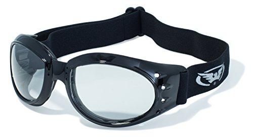 Global Vision Eyewear Eliminator Z Schutzbrille mit Schwarz Rahmen und klar Anti-Fog Objektive mit Micro Faser Tasche