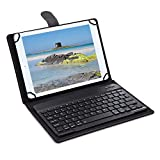 Knlona 3 in 1 Wireless Blue-Teeth Tastatur Tablet Case 9-10,1 Zoll
